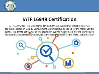 IATF 16949 Automotive Certification