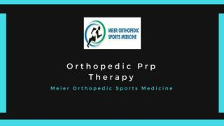 Orthopedic Prp Therapy