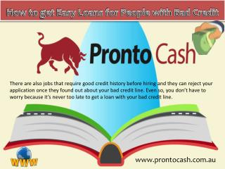 How to get Easy Loans for People with Bad Credit