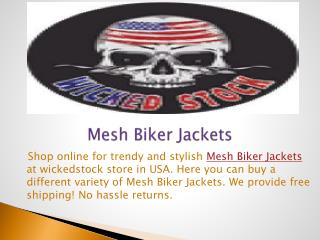 Mesh Biker Jackets