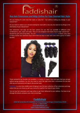 Buy Hair Extensions and Wigs Online for Your Desired Hair Style