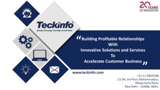 Teckinfo Solutions product folio