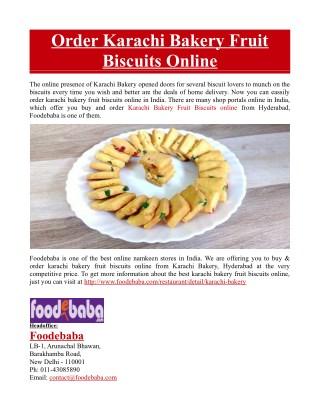 Order Karachi Bakery Fruit Biscuits Online