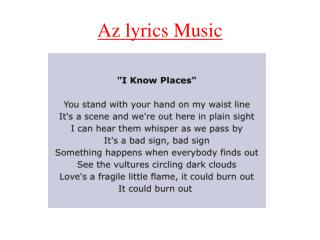 Az lyrics Music