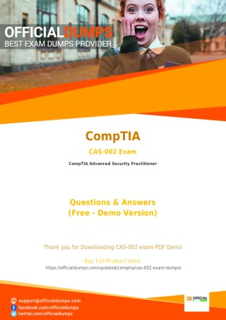CAS-002 CompTIA Advanced Security Practitioner CAS-002 Exam Questions | Download Instantly