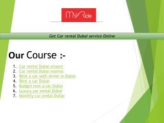 Get Car rental Dubai service Online