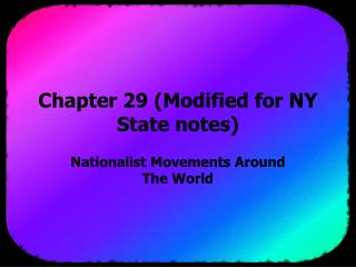Chapter 29 (Modified for NY State notes)