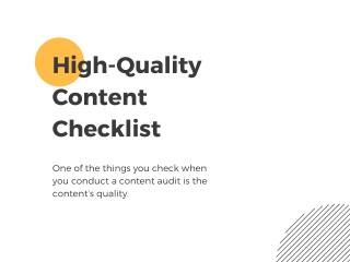 High-Quality Content Checklist