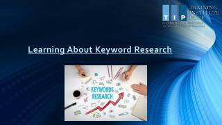 Learning About Keyword Research PPT