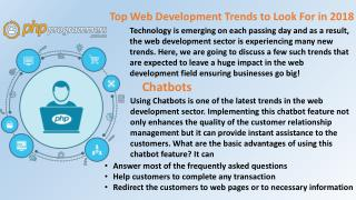 Top Web Development Trends to Look For in 2018