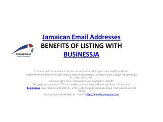Jamaican Email Addresses