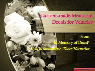 Combine the Fun & Appeal of Shopping for Memorial Stickers with Ease