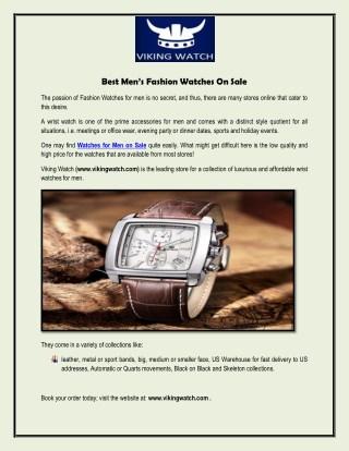 Best Men's Fashion Watches On Sale