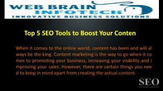 Top 5 SEO Tools to Boost Your Content Marketing