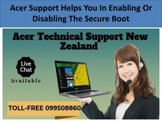 Acer Support Helps You In Enabling Or Disabling The Secure Boot