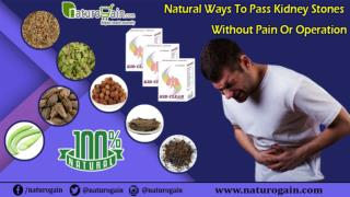 Natural Ways to Pass Kidney Stones without Pain or Operation
