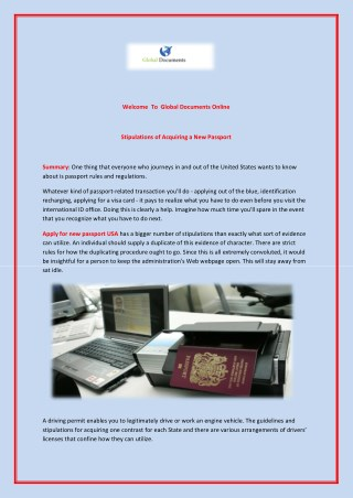 Apply for new passport USA