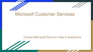 contact microsoft store for help and assistance