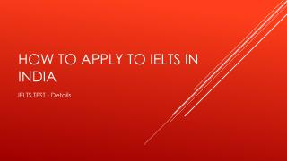 How to apply to IELTS