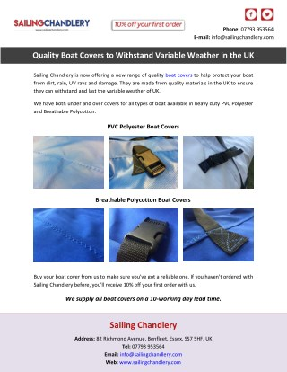 Quality Boat Covers to Withstand Variable Weather in the UK