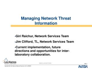 Managing Network Threat Information