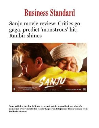 Sanju movie review: Critics go gaga, predict 'monstrous' hit; Ranbir shines