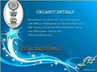 Vacancy Details.