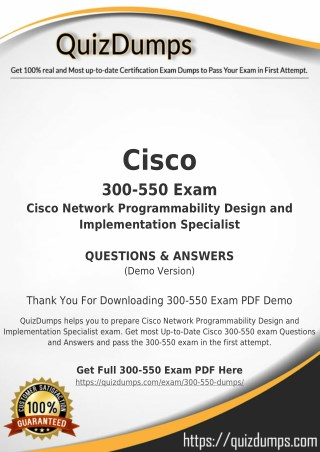 300-550 Exam Dumps - Download 300-550 Dumps PDF [2018]