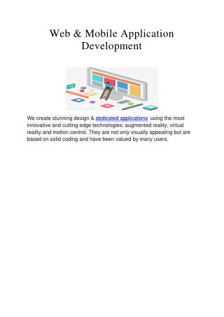 Web and Mobile Application Development Company