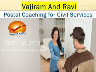 Postal Coaching for Civil Services | Vajiram and Ravi