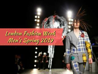 London Fashion Week Men's Spring 2019