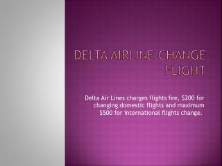 Delta Airline Change Flight