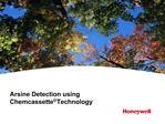 Arsine Detection using Chemcassette  Technology