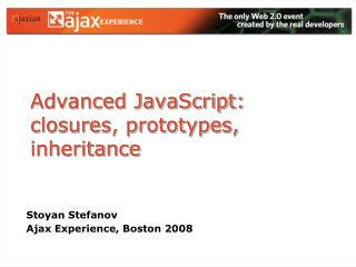 Advanced JavaScript: closures, prototypes, inheritance