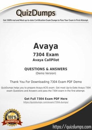 7304 Exam Dumps - Actual 7304 Dumps PDF [2018]