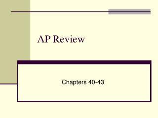 AP Review