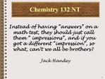 Chemistry 132 NT