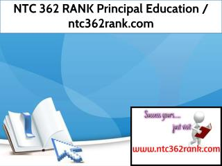 NTC 362 RANK Principal Education / ntc362rank.com