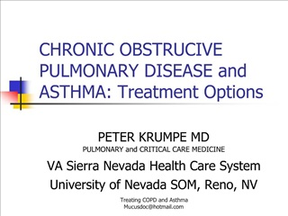 CHRONIC OBSTRUCIVE PULMONARY DISEASE and ASTHMA: Treatment Options