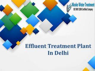 Effluent Treatment Plant In Delhi
