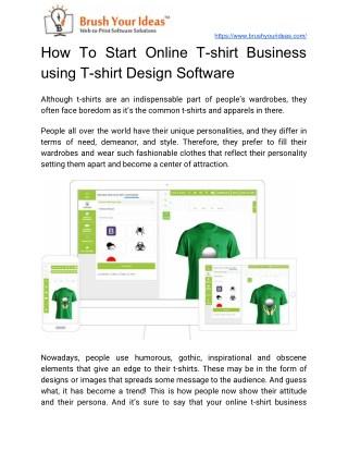 How To Start Online T-shirt Business Using T-shirt Design Software