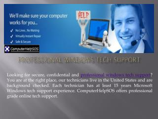 Get the Best Professional Windows Tech Support