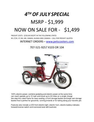 4th of July Special Tricycle