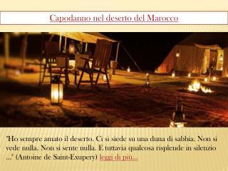 Capodanno nel deserto del Marocco