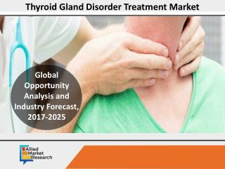 Thyroid Gland Disorder Treatment Market to Reach $2,771 Mn,Globally,by 2025