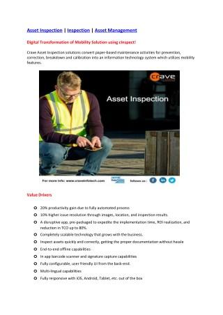 Asset Inspection | Inspection