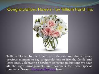 Congratulations Flowers - by Trillium Florist, Inc