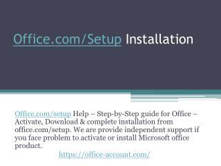 Office Setup - Redeem Product Key - Office Setup