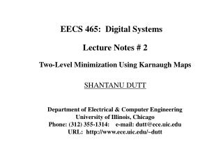 EECS 465:  Digital Systems