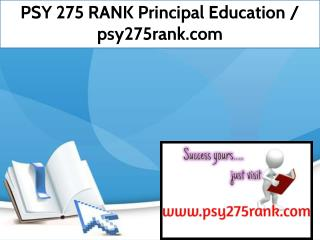 PSY 275 RANK Principal Education / psy275rank.com